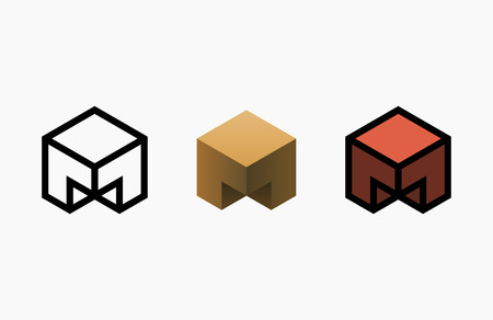 Hexagon  design. Creative emblem template. Banco de Imagens