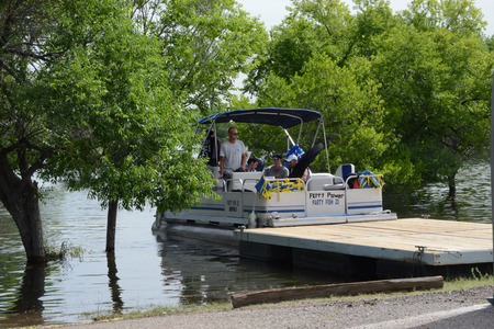 pontoon: pontoon shuttle at dock