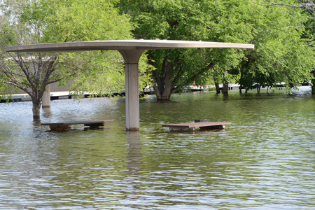chatfield: picnic area flooded