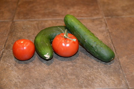 line of vegetables, Stockfoto
