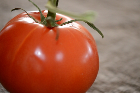 close up of tomato.