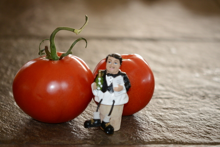 Tomato's and wine stopper