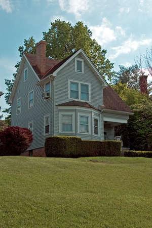 Beautiful restored house in historic Lancaster Ohio. Banco de Imagens