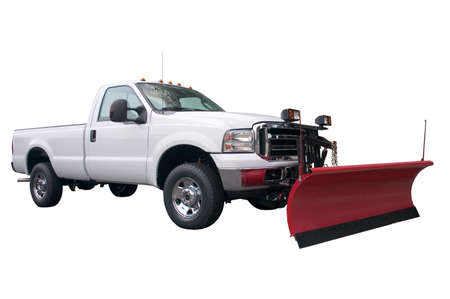A brand new snow plow truck isolated on a white background. Stock Photo - 415992