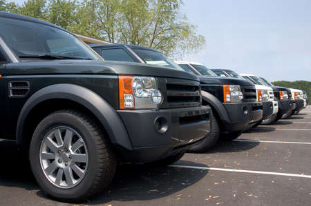 Beautiful and expensive European luxury SUVs lined up for sale. Look in my gallery for more car photos like this.