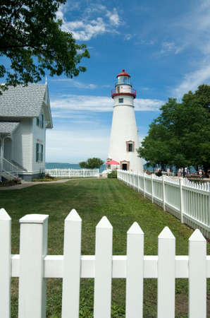 erie: Marblehead Lighthouse. Located on the shores of Ohios  Lake Erie.