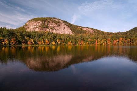 reflecting: Beautiful fall colors reflecting onto Echo Lake New Hampshire.