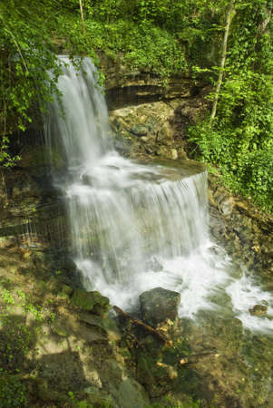 milton: Waterfall In West Milton Ohio.