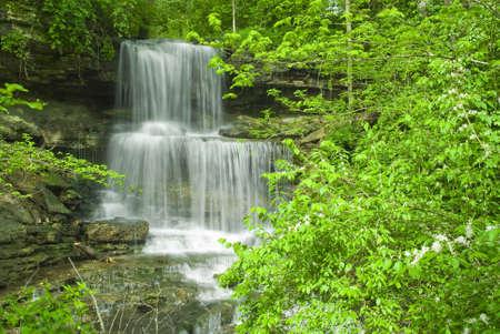 Waterfall In West Milton Ohio.