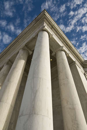 jefferson: Marble Doric columns at the Jefferson Memorial  in Washington DC.
