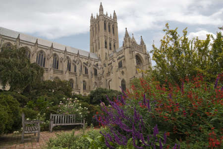 The beautiful garden a the National Cathedral in Washington DC.