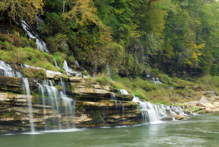 Twin Falls in Rock Island state park Tennessee.