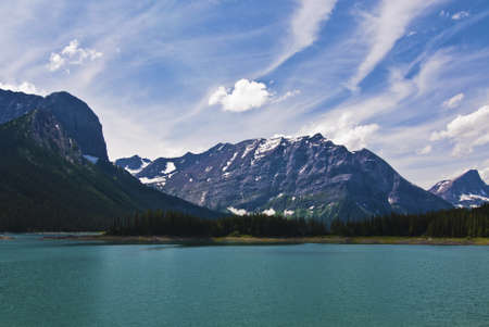 canadian rockies:  Spray lakes in the Canadian Rockies near Canmore, Alberta Canada.