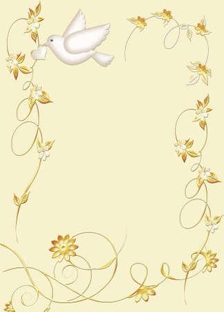 beige: Dove Wedding Stationery Stock Photo