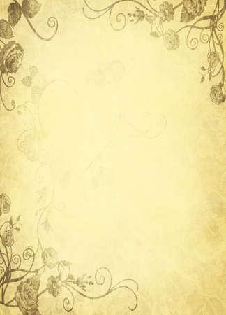 bordure floral: Papeterie de cru
