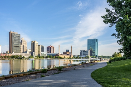 A panoramic view of downtown Toledo Ohio Stock Photo