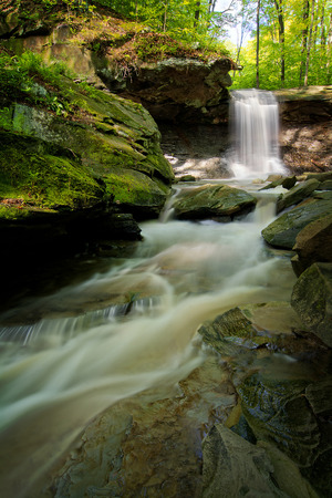 Blue Hen Falls in Cuyahoga Valley National Park Ohio   A gorgeous fifteen foot waterfall seen here in late spring  photo