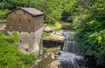The historic Lanterman s Grist Mill Stok Fotoğraf