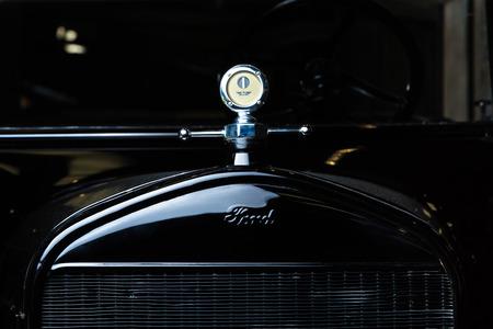 Ford T dark background vintage car Adler Trumpf Junior brown luxury retro car Cabrio Limousine dark background