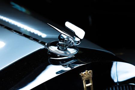 Audi Horch 930 S silver luxury retro car dark background Adler Trumpf Junior brown luxury retro car Cabrio Limousine dark background Editöryel