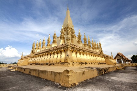 Temple of lao Stock Photo