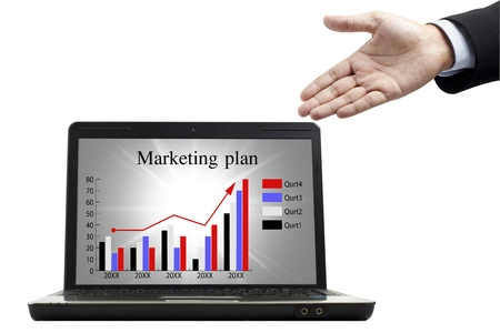 Marketing plan for success in the notebook Stock Photo - 9982110