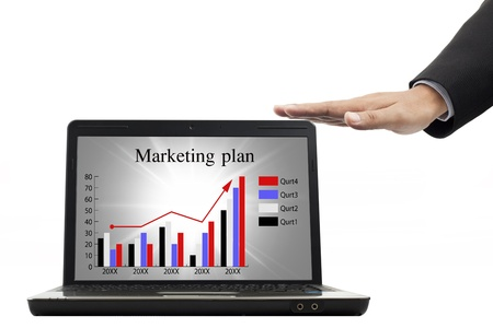 Marketing plan for success in the notebook Stock Photo - 9982108
