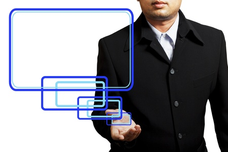 Businessman holding the message board Stock Photo - 9997540