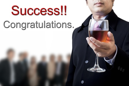 Congratulations on your success in business. photo