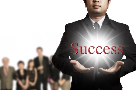 Business team building for success Stock Photo - 9982133