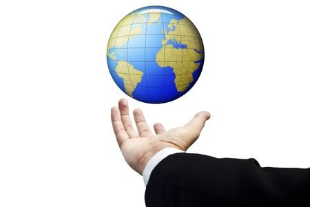 el mundo en tus manos: El mundo est� en tus manos Foto de archivo