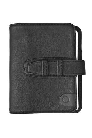 pocket book: Black notebook  on a white background