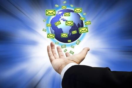 Messaging communications around the world : Data source: NASA