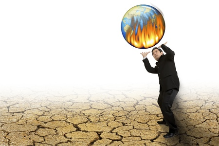 dire: The global warming every day Stock Photo
