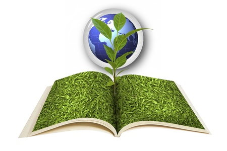 Book open and the seedlings grow : Data source: NASA photo