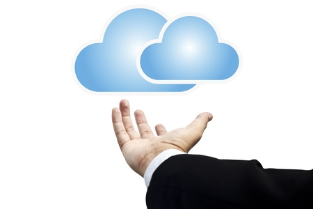 Cloud  concept with copy space Stock Photo