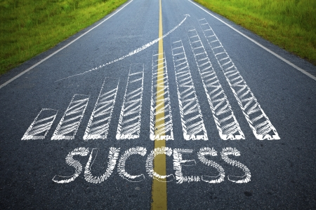 The road to success is not far Stock Photo - 13598784