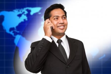 Businessman enjoying a conversation over the cellphone