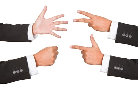 Hand gestures set, isolated  These and other gestures