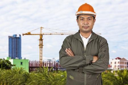 Portrait of an handsome engineer