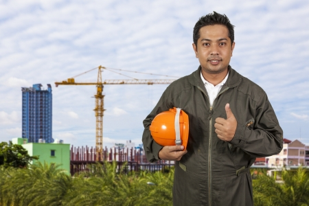 Portrait of an handsome engineer photo