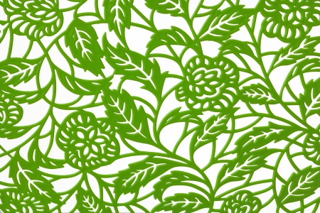 Seamless pattern with green leafs Stock Photo