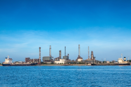 Oil refinery industrial plant  Editorial