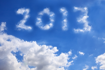 Year 2013 with cloud