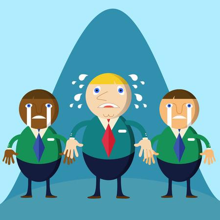loser: Business man cartoon character loser