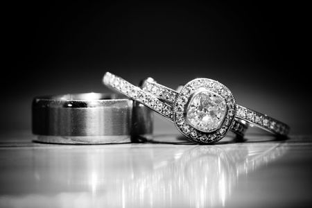 platinum: Diamond Rings Stock Photo
