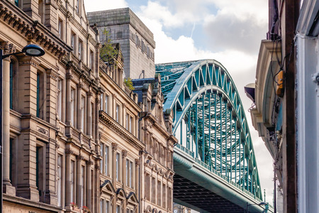 Tyne Bridge with Traditional Architecture, City of Newcastle upon Tyne, UK