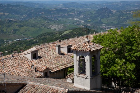 Roof tops of San Marino in Italy