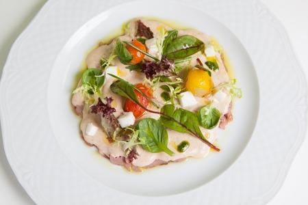 antipasti: Antipasti,light italian snack with ham and vegetables