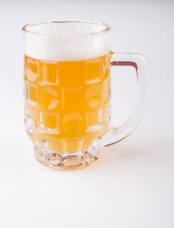 Beer glass mug on a white background